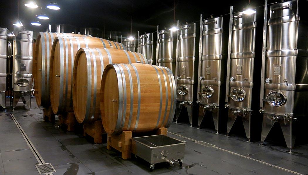Our new white wine vat room!