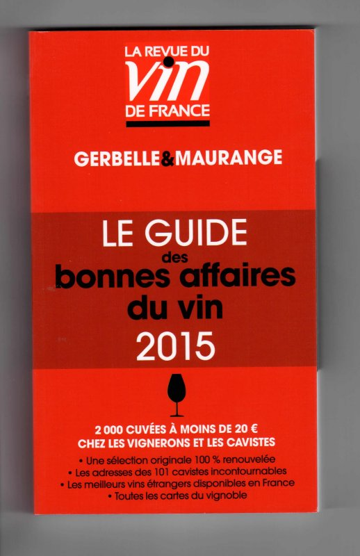 Guide des bonnes affaires du vin 2o15