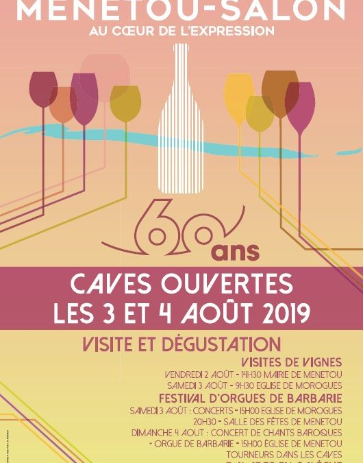 Open cellars and 60th anniversary of the appellation Menetou-Salon  3 & 4 August 2019